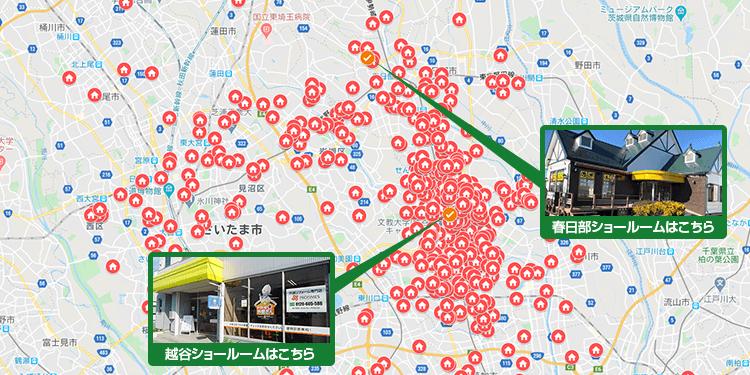 埼玉県越谷市エリア地図