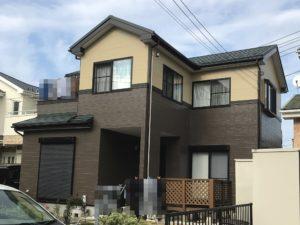 春日部市備後東 M様邸 外壁塗装・屋根重ね葺きリフォーム