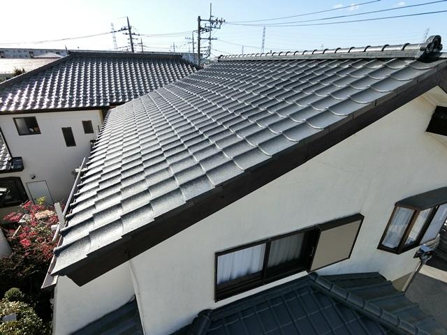 春日部市増富 Y様邸 屋根塗装リフォーム